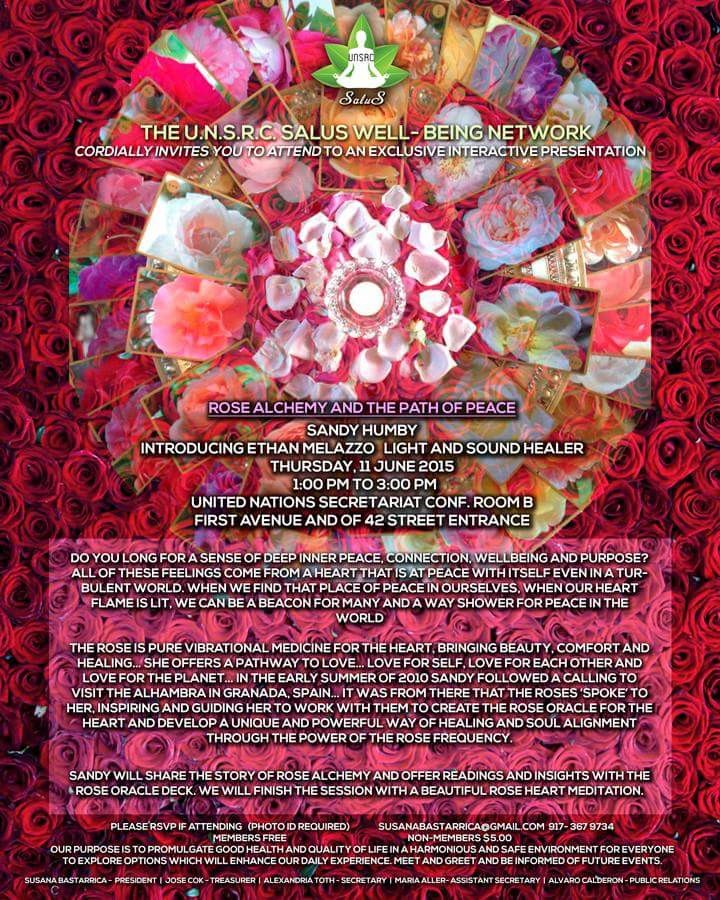 UN Flyer June 2015 The Rose and The Path to Peace